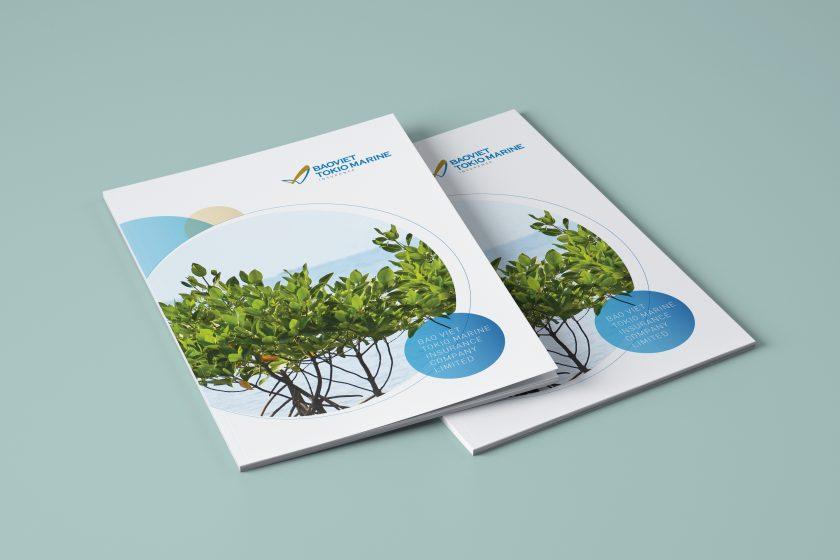 Thiết kế brochure công ty Nhật Bản